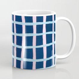Pink and Blue Grid Coffee Mug