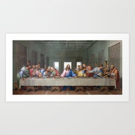 The Last Supper by Leonardo da Vinci Art Print