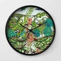 death Wall Clocks featuring Daydreamer by Huebucket