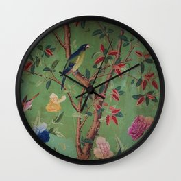 Green Dream Chinoiserie Wall Clock