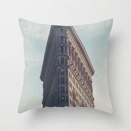 Flat Flat Iron - NYC Throw Pillow