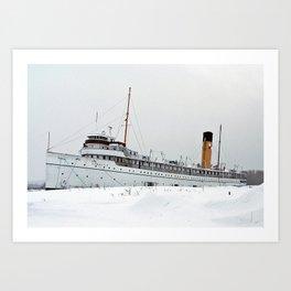 SS Keewatin in Winter White Art Print