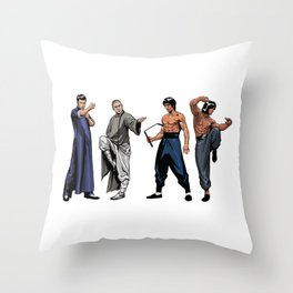 Kung Fu Legends Throw Pillow