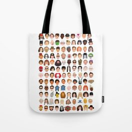Movie Characters Heads Tote Bag