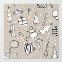 Christmas White and Kraft Sketches by empapers