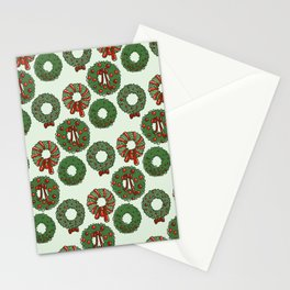 Winter Wreaths Stationery Cards