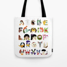 Child of the 70s Alphabet Tote Bag