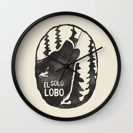 El solo Lobo Wall Clock