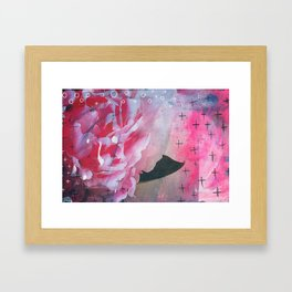 Pretty in Pink Peony Framed Art Print