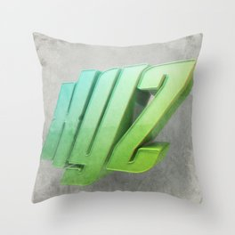 Anaglyph // XYZ Throw Pillow