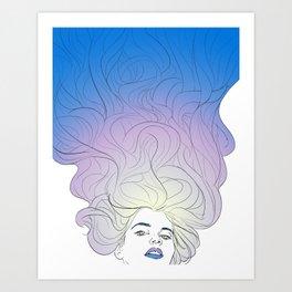 hair no. 3 Art Print