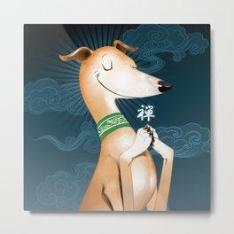 Zen Hound Metal Print