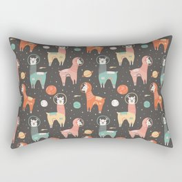 Astronaut Llamas in Space Rectangular Pillow