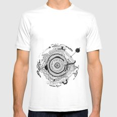 Little planet MEDIUM Mens Fitted Tee White