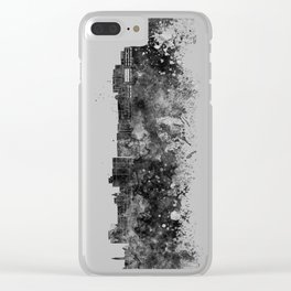 Duluth skyline in black watercolor Clear iPhone Case