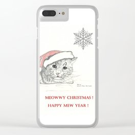 Meowwy Christmas Clear iPhone Case