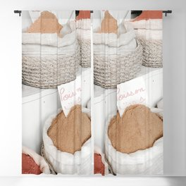 North African Market Photo   Travel Photography   Curry Powders And Spices On Market Blackout Curtain