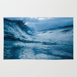 Blue Sea and Waves Rug