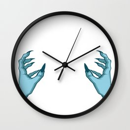 Dice Hands Gamer Or Online Player Gift Wall Clock
