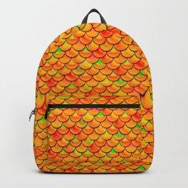Orange Green Scales Backpack