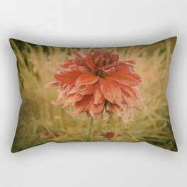 Hand painted vintage flower Rectangular Pillow