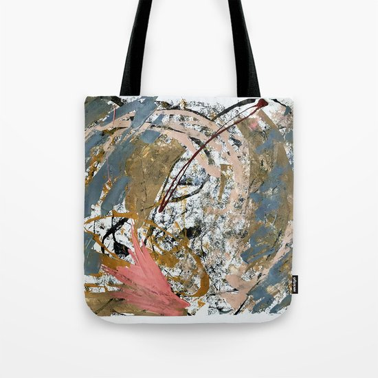 Symphony [2]: colorful abstract piece in gray, brown, pink, black and white by blushingbrushstudio