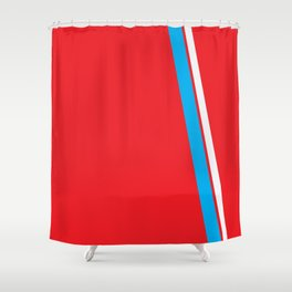 Red Slant Shower Curtain