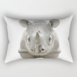 Baby Rhinoceros Rectangular Pillow