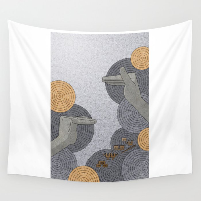 Hope Opens Heaven - (Artifact Series) Wall Tapestry