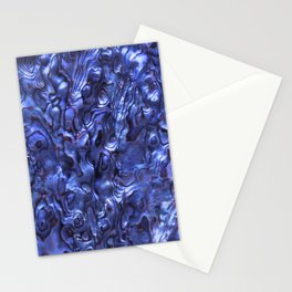 Abalone Shell | Paua Shell | Sea Shells | Patterns in Nature | Dark Blue Tint | Stationery Cards