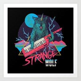Strange Wolf Art Print
