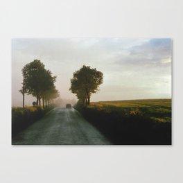 Drive into the Mist Canvas Print