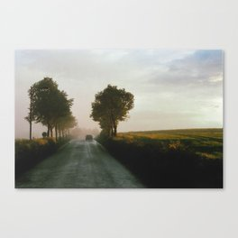 Drive into the Mist Canvas Print