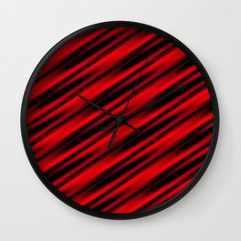 Abstract red ray background Wall Clock