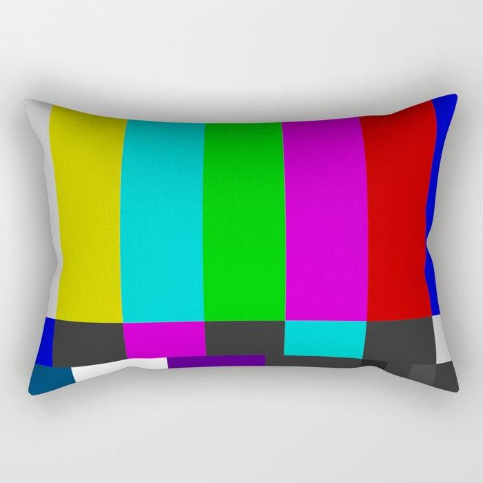 NTSC Color Bars Rectangular Pillow