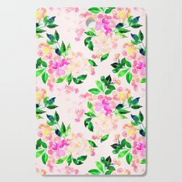 Watercolor spring floral pattern Cutting Board