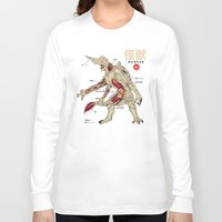 anatomy Long Sleeve T-shirts featuring Kaiju Anatomy by MeleeNinja