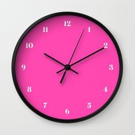 Fluorescent Neon Pink // Pantone® 806 U Wall Clock