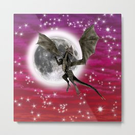 Black Dragon Metal Print