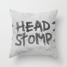 HEAD STOMP Throw Pillow