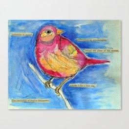Watercolour Bird Canvas Print