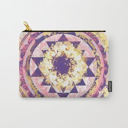 Golden Fire Sri Yantra Carry-All Pouch