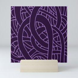 Microcosm in Purple Mini Art Print