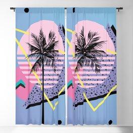 Memphis pattern 46 - 80s / 90s Retro / Palm Tree Blackout Curtain