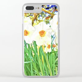 Bright Spring Narcissus Clear iPhone Case
