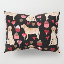 Yellow Lab valentines day hearts cupcakes cute labrador retriever Pillow Sham