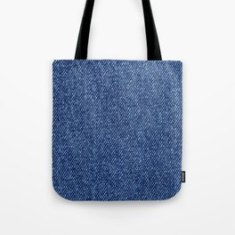 Washed Denim Fabric (Twill Textile) - Blue Tote Bag