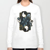 221b Long Sleeve T-shirts featuring The Detective of 221B by WinterArtwork