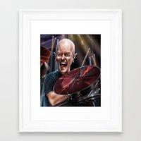 chris evans Framed Art Prints featuring Chris Slade by AndreKoeks