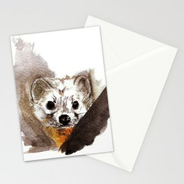 Japanese Marten in winter Stationery Cards